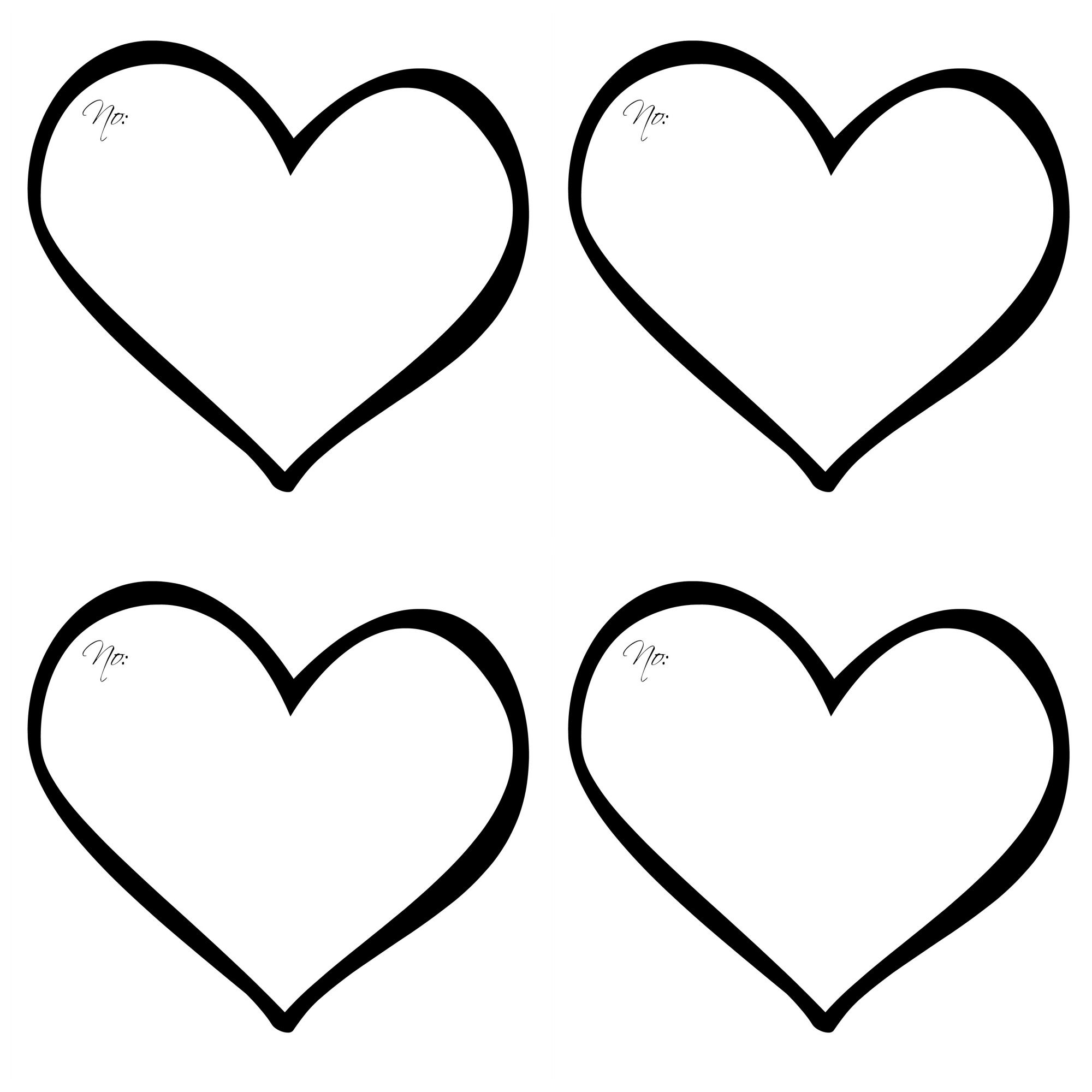 double heart coloring pages - photo#13
